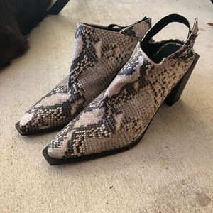 Free People Silver Storm Mules